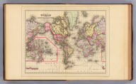 Map of the World on the Mercator projection, exhibiting the American Continent as its centre. Copyright 1887 by Wm. M. Bradley & Bro. (1890)