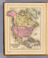 Map of North America. Showing its political divisions, and recent discoveries in the Polar Regions. Copyright 1887 by Wm. M. Bradley & Bro. (1890)