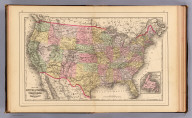 Map of the United States, and territories. Together with Canada &c. (with) Island of Newfoundland. Copyright 1887 by Wm. M. Bradley & Bro. (1890)