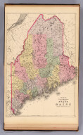 County and township map of the state of Maine. Copyright 1887 by Wm. M. Bradley & Bro. (1890)