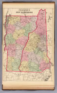 County and township map of Vermont and New Hampshire. Copyright 1887 by Wm. M. Bradley & Bro. (1890)