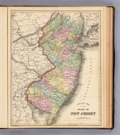 County map of the state of New Jersey. Copyright 1887 by Wm. M. Bradley & Bro. (1890)