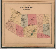 Outline Map of Fulton County, New York.
