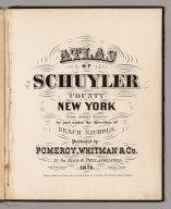 Title Page: Atlas of Schuyler County, New York.