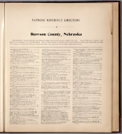 Text: Patrons' Reference Directory of Dawson County, Nebraska.