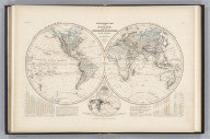 Geology. No. 1 & 2. Orographical Map of the Globe, Showing the Configuration & Physiography of Its Surface Constructed by Augustus Petermann, F.R.G.S. Engraved by John Dower, Pentonville, London. London: Published by Orr and Compy. Amen Corner, Paternoster Row.