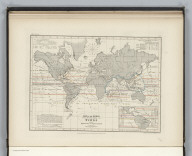 Meteorology. No. 8. Map of the World showing the Distribution of the Winds and their Influence on Navigation. Constructed by Augustus Petermann, F.R.G.S. Engraved by John Dower, Pentonville, London. London: Published by Orr and Compy. Amen Corner, Paternoster Row.