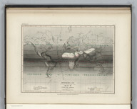 Meteorology. No.9. Hydrographic Map showing the distribution of the Rain over the Globe. Constructed by Augustus Petermann, F.R.G.S. Engraved by John Dower, Pentonville, London. London: Published by Orr and Compy. Amen Corner, Paternoster Row.