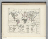 Ethnography. No. 13. Ethnographical Map of the World showing the distribution of the Human Race in the Middle of the 19th Century. Constructed by Augustus Petermann, F.R.G.S. Engraved by John Dower, Pentonville, London. London: Published by Orr and Compy. Amen Corner, Paternoster Row.