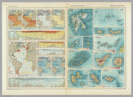 Atlantic Ocean. Atlantic Ocean - Islands. Pergamon World Atlas. Pergamon Press, Ltd. & P.W.N. Poland 1967. Sluzba Topograficzna W.P.