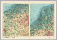 Belgium, Luxembourg. Netherlands. Pergamon World Atlas. Pergamon Press, Ltd. & P.W.N. Poland 1964. Sluzba Topograficzna W.P.