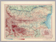Bulgaria. (inset) Sofiya (Sofia). Pergamon World Atlas. Pergamon Press, Ltd. & P.W.N. Poland 1967. Sluzba Topograficzna W.P.
