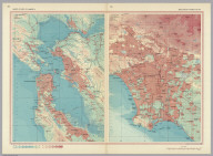 United States of America - (San Francisco Bay Area and Los Angeles Basin). Pergamon World Atlas.