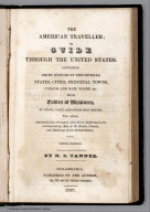 Title Page: The American Traveller; or Guide Through the United States