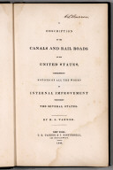 Title Page: A Description of the Canals and Railroads of the United States