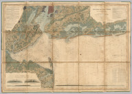 Map of New - York Bay And Harbor And The Environs. Founded upon a Trigonometrical Survey under the direction of F.R. Hassler Superintendent of the Survey Of The Coast Of The United States. Triangulation by James Ferguson and Edmund Blunt Assistants. The Hydrography under the direction of Thomas R. Gedney Lieutenant U.S. Navy. The Topography by C. Renard, T.A. Jenkins & B.F. Sands Assists. Published in 1845. A.D. Bache Superintendent. Verified by Lieut. A.A. Humphreys ... Topography Engraved by S. Siebert & A. Rolle, Views Engraved by O.A. Lawson. Engraving supervised & Views of the Coast drawn by J. Farley. Hydrography Engraved by F. Dankworth, Lettering by F. Dankworth & J. Knight.