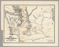 Map of a Part of the Territory of Washington, 1855