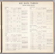 (Text Page) Ice Data Tables, Grand Banks Region.