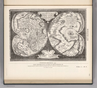 (Facsimile) Mercator - 1538. 16. S Doc 91 55 2. Historical Map Showing European Occupation in the Year 1597 - 1803. Gerardus Mercator 1538. Double Cordiform Map of the World by Gerard Mercator, 1538. Reproduced from Copy (in Nordenskjold's Facsimile Atlas, Stockholm, 1889, Pl. XLIII,) in Library of U.S. Geological Survey. Washington, D.C.)(A General View with Dates of Occupation and Abandonment). Lith. by A. Hoen & Co., Baltimore, MD.