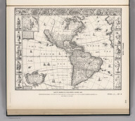 (Facsimile) Speed - 1626. 22. Map of America by ohn Speed, London, 1626. Reproduced from Original (In his Project of the most Famous Parts of the World, London, 1631, pp. 9-10.) in Library of Congress, Washington, D.C. Lith. by A. Hoen & Co., Baltimore, MD.