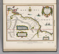 (Facsimile) Blaeuw - 1635. 25. Map of Guiana by William Blaeuw, Amsterdam, 1635. Reproduced from Original (in Nievwe Atlas, by Wm. and John Blaeuw, Amsterdam, 1635, Vol. 2, Fol. N,) in Library of Harvard College, Cambridge, Mass. Lith. by A. Hoen & Co., Baltimore, MD.