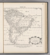 (Facsimile) Sanson - 1650. 29. S Doc 91 55 2. Part of a Map of South America by N. Sanson D'Abbeville, Paris, 1650. Reproduced from Original in the Library of Harvard College, Cambridge, Mass. Lith. by A. Hoen & Co., Baltimore, MD.