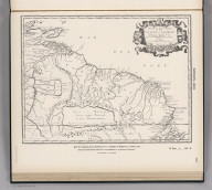 (Facsimile) - 1656. S. Doc 91 55 2. 30. Map of Guiana and Caribana by N. Sanson D'Abbeville, Paris, 1656. Reproduced from Original Submitted to the Commission by the Republic of Venzuela. Lith. by A. Hoen & Co., Baltimore, MD.