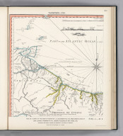 (Facsimile) Thompson - 1783. 43. S Doc 91 55 2. Part of a Chart of the Coast of Guiana by L.S. Delarochette, 1783, from Observations by Capt. Edward Thompson in 1781, London, Published by Wm. Faden, 1783. Reproduced from Original Furnished the Commission by te Republic of Venezuela. Photo.Lith. by A. Hoen & Co., Baltimore, MD.