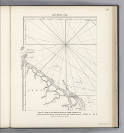 (Facsimile) Jefferys - 1795. 45. S Doc 9a 55 2. Part of a Chart of the Coast of Guiana by Thomas Jefferys, 1795. Reproduced from Original (in his West-India Atlas, London, 1818, No. 33,) in Library of Congress, Washington, D.C. Photo.Lith. by A. Hoen & Co., Baltimore, MD.