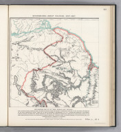 """(Facsimile) Schomburgk - Great Colonial Map - 1887. 49. S Doc 91 55 2. Northwestern Part of the """"Great Colonial Map"""" Entitled: """"Map of British Guiana ... from 1841 to 1844, and under the Direction of the Royal Geographical Society from 1835 to 1839. By Sir Robert H. Schomburgk. Revised ... by Cathcart Chalmers esq., Crown Surveyor of the Colony, and james Gay Sawkins Esq. Director of the Geological Survey of the West Indies and British Guiana. With Additions by Charles B. Brown Esq. ... Engraved under ... William Walker Esq. 1875"""". Reproduced from Copy in Possession of the Commission. Photo. Lith. by A. Hoen & Co., Baltimore, MD."""