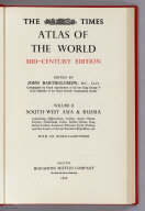 Title Page: Times Atlas of the World. Mid-Century Edition, Volume II
