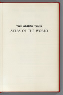 Half Title: The Times Atlas of the World, Mid-Century Edition, V. III