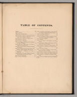Table of Contents: Atlas of Rutland County, Vermont.
