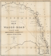 Map of the Wagon-Road from Platte River via Omaha Reserve and Dakota City to Running Water River. Geo. L. Sites, Supt. 1858. T.S. Wagner's Lith. Philada. Department of the Interior, Pacific Wagon Roads. (Sen. Ex. Doc. No. 36. Ho. Ex. Doc. No. 108 - 2nd Sess. 35 Cong.)
