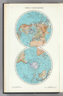3. Northern and Southern Hemispheres. The World Atlas.