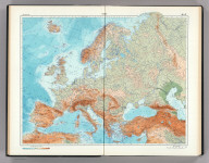 46-47. Europe, Physical. The World Atlas.