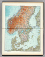 55-56. Scandanavia, South. The World Atlas.