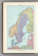 57. Scandanavia, Political. The World Atlas.