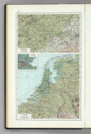 69. North France, South West Belgium, Netherlands. The World Atlas.