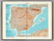 70-71. Spain and Portugal. The World Atlas.