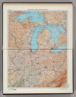 200-201. United States of America, North East Central. The World Atlas.