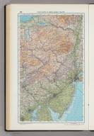 205. United States of America, Middle Atlantic. The World Atlas.