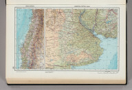 232. Chile, Central, Argentina, Central (Pampa). The World Atlas.