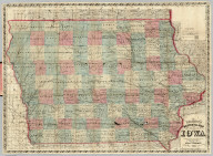 Sectional Map of the State of Iowa