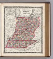 Ohio, Indiana, Kentucky, and Tennessee. (inset) Vicinity of Cincinnati.