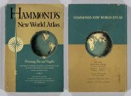 (Covers to) Hammond's New World Atlas. Containing New and Complete Historical, Economic, Political and Physical Maps of the Entire World in Full Colors with Complete Indexes and the Races of Mankind, Illustrated Gazetteer of the World, Illustrated Gazetteer of the United States and Territories. Garden City Publishing Company, Inc. Garden City, N.Y., U.S.A. 1948.