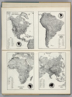 Resource-Relief Maps of: North America, South America, Africa,and Asia.