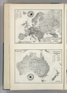 Resource-Relief Maps of: Europe and Australia.
