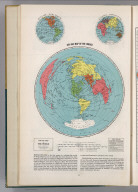 Air Age Map of the World. Azimuthal equidistant projection. Printed in U.S.A.