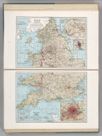 England and Wales (Northern Part). 19. England and Wales (Southern Part). 19. (inset) Livermore, Manchester and Vicinity. (inset) Liverpool and Vicinity. (inset) London and Vicinity. (inset) Isles of Scilly.